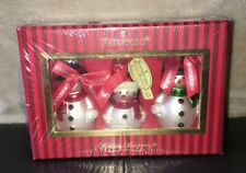 Waterford Holiday Heirlooms Snowmen Christmas Ornaments Set of 3 MIB 144258