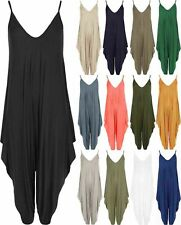 Womens Cami Harem Jumpsuit Lagenlook Romper All In One Ladies Hareem Playsuit