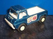 Vintage 1969 Tootsie : Toys Blue Wheelie Pick Up Truck : 1:64 Diecast  [2628]