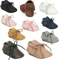 Newborn Girl Tassel Moccasin Baby Shoes Soft Sole Toddle Prewalker Sneaker 0-18M