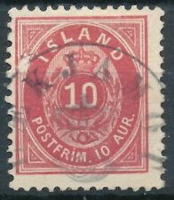 Iceland Scott 26 Crown/Posthorn Postmark used.