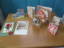 6 Vintage Used Valentine's Day Cards and 2 Valentine's Post Cards One Dated 1918