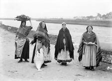 Old Photo. Galway City. Women Selling Fish