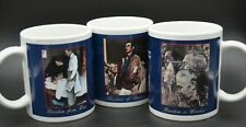 Norman Rockwell Coffee Mugs Cups Set of 3 Four Freedoms