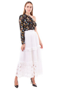 RRP €210 ANTIK BATIK Maxi Hippie Skirt Size 36 / XS Embroidered Eyelets Ruffle