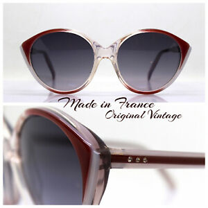 Made IN France Sunglasses Woman Round cat's eye Vintage 70 Hippies