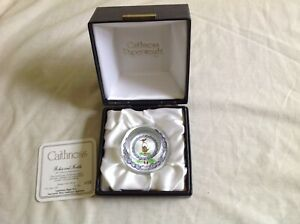 CAITHNESS 1983 COLLECTORS PAPERWEIGHT LIMITED ROBIN & KETTLE COLIN TERRIS BOXED