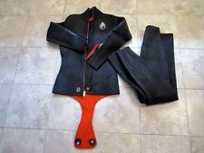 Wetsuit Vintage Parkway Shark Skin Scuba Diving 2 Piece Beaver Tail Size Small