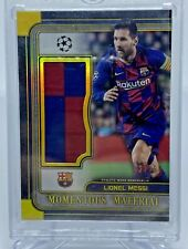 Lionel Messi Momentous Moments Gold Patch /50 Topps UEFA Champions League Museum
