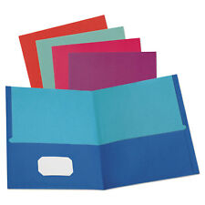 Oxford Twisted Twin Textured Pocket Folders Letter Assorted 10/Pk 20 Pk/Ct 51274
