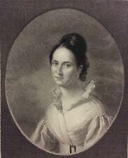 The Missionary' Wif gravure sur acier d'après C Ingram par W Holl en 1845