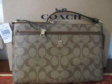 Coach Signature Khaki Saddle Crossbody Bag NWT