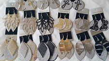 Joblot 60 Pairs Mixed shape metal Fashion Dangly Earrings - NEW Wholesale Lot B