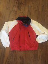Vintage Nautica Competition Jacket Size XL Color Block Windbreaker Sailing Hood