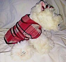 Victoria's Secret Limited Edition Plush Gund Terrier Dog LOLA 2001 Plaid Coat