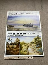Yesterday's Trails And Heritage Trails 1986 By Brown Sue Scheewe Oil Art Book