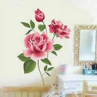 3D Rose Flower Wall Stickers Removable Decal DIY Art Living Room Decoration