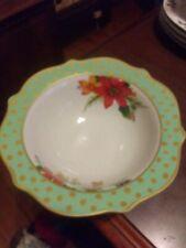 Pioneer Woman Stoneware Holiday Bowl Christmas Winter Charm Garland Dots