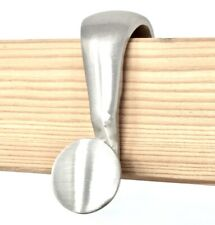 Rousso's Reproductions Eight Picture Rail Hanger Hooks Brushed Nickel Finish