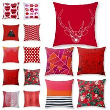 New Nordic Geometry Red Pillows Case Cushion Waist Cover Throw Home Sofa Decor