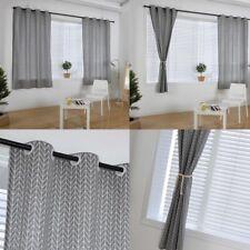 1pc Gray Curtain Modern Geometric Printed Blackout Window Drapes Treatment Decor
