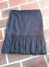 Supre XS skirt, ruffled balloon hemline, stretch, hugging, black black