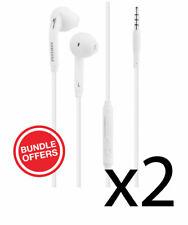 2x NEW OEM Original Samsung White Headset Earphone EG920BW S5 S6 S7 S9 S10