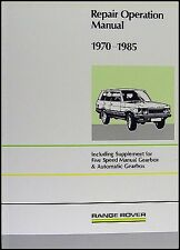 Range Rover Repair Shop Manual 1985 1984 1983 1982 1981 1980 1979 1978 1970-1977