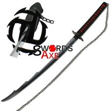 Ultimate Ninja Sword Japanese Anime Dark Soul Spiked Blade Black Cosplay Replica