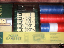 ROLFS BOXED POKER GAME SET WITH MONEY CLIP & MINI CRAPS MAT