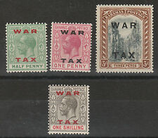 BAHAMAS 1919 WAR TAX KGV SET