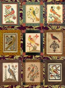 Rice paper for decoupage Bright extraordinary birds 11.1x15.11 in Made in Russia