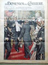 La Domenica del Corriere 15 Settembre 1901 Attentato McKinley Tamburi Esercito
