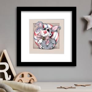 Rabbit Clown - Limited Edition by Illustrator Rachel Mabin