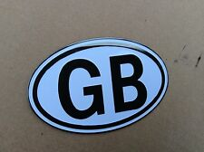 GB Badge In Period Light Alloy , Self Adhesive White/blackMgb ,Mga ,td ,ROW8-E