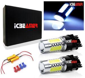 2 pcs 11W COB LED White Replace Halogen Rear Turn Signal Light Bulbs Q651