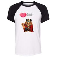 Unisex Summer T-shirt Beauty and the Beast Belle princess and prince Loves