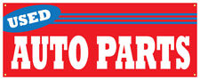 Used Auto Parts Banner Junk Yard Cars Trucks Retail Store Sign 36x96
