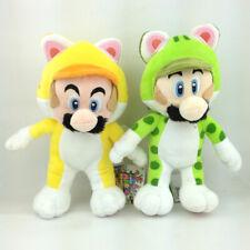 "2X Super Mario Bros Cat Mairo Luigi Plush Toy Stuffed Aniaml Figure Doll 8"""