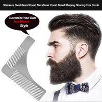 New Stainless Steel Mens Beard Comb Hair Comb Beard Shaping Shaving Tool Comb