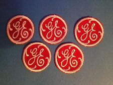 5 Lot Rare Vintage 1960's G E General Electric Small Uniform Hat Patches F