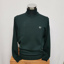 Fred Perry Classic Crew Neck Sweater Brit Racing Green K7211-F01 Pulli Grün Gr M