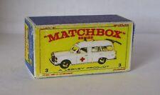 Repro Box Matchbox 1:75 Nr.03 Mercedes Benz Binz Ambulance