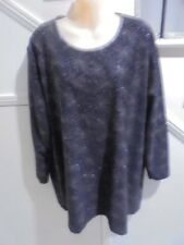 BOBBIE BROOKS WOMAN SIZE 20 NWOT Black Glitter Evening Special Occasion TOP