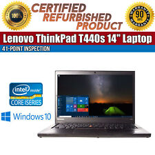 "C Grade Lenovo ThinkPad T440s 14"" Intel i5 8GB RAM 320GB HDD WiFi Win 10 Laptop"