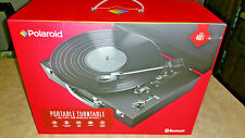Polaroid Portable Bluetooth Turntable w/ Speakers - Vinyl & Wireless Devices NEW
