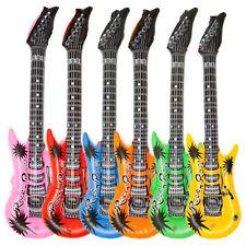 Aufblasgitarre Luftgitarre Air Guitar 12 x Aufblasbare E-Gitarre Gummigitarre