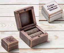 Small Wedding Ring Bearer Box, Custom Wooden Ring Box, Rustic Ring Holder