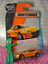 '15 JAGUAR F-TYPE COUPE #15☆Orange JAG☆2016 MATCHBOX ADVENTURE CITY☆case L/M