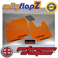Rally Mudflaps VAUXHALL CORSA C (00-07)Mud Flaps Bright Orange Kaylan Logo Black